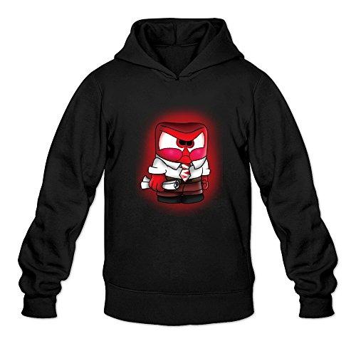 [BEVH Men's Inside Out Anger Hoodie Sweatshirt Black] (Sims 3 Seasons Costumes)