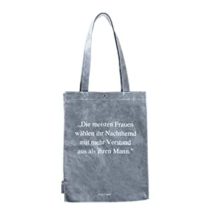 Poesietasche, Die meisten Frauen ..., graue Tasche, Räder Design
