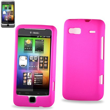 Hard Protector Skin Cover Cell Phone Case For Htc Htcg2T T-Mobile - Hot Pink