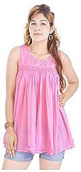 Shop Avenue Women's A-Line Dress (Pink )