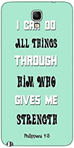 Snoogg Him Who Gives Me Strength Quote Case Cover For Samsung Galaxy Note Iii...