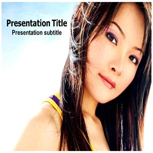 Asian Girl Powerpoint Template | Powerpoint Templates for Asian Girl | Asian Girl Powerpoint Templates Background