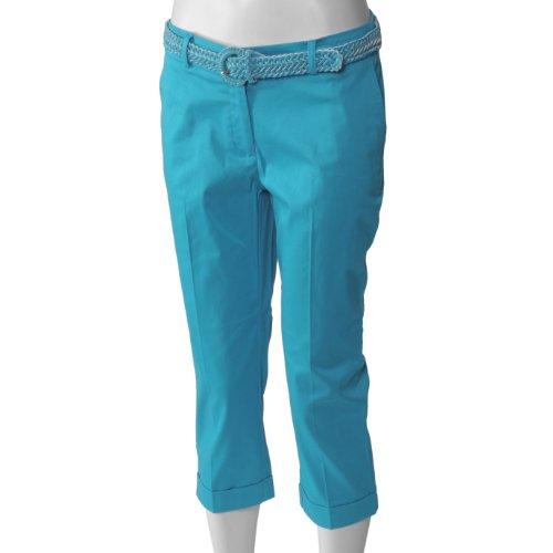 In Moda Womens Belted Capri Pants