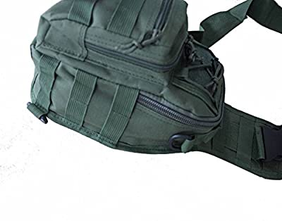 Outdoor Sport Military Tactical Hiking Camping Backpack Shoulder Bag Chest Pack (Green)