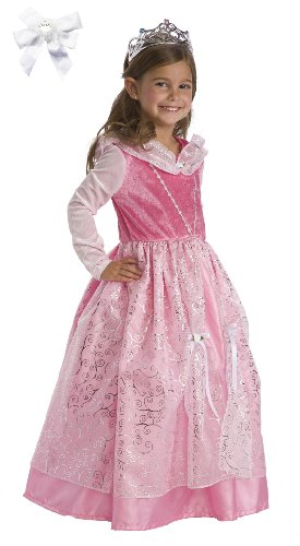 Little Adventures 12163 Deluxe Sleeping Beauty Princess Costume Age 5-7 with Hairbow
