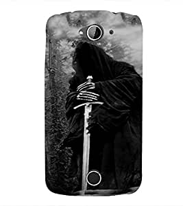 PrintVisa Warrior Design Cool Ob 3D Hard Polycarbonate Designer Back Case Cover for Acer Liquid Jade Z530