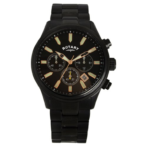 Rotary Men's Black Ip Chronograph Bracelet Watch GB30023/04