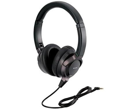 ELECOM密閉型ヘッドホン ハイレゾ音源対応 LCPフィルム振動板タイプ ブラック  EHP-F/OH2000ABK