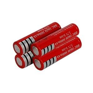 4Pcs 3.7V 18650 3000mah Rechargeable Batterys