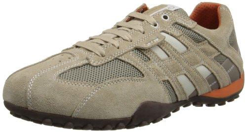 Geox  U Snake K,  Sneaker uomo, Beige (Beige (BEIGE/DK ORANGE C0845)), 41
