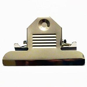 H872 - 3 3/8'' Nickel Clipboard Clips