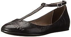 Nara Shoes Women s Tammy Mary Jane Flat Alaska Nero 8 B(M) US