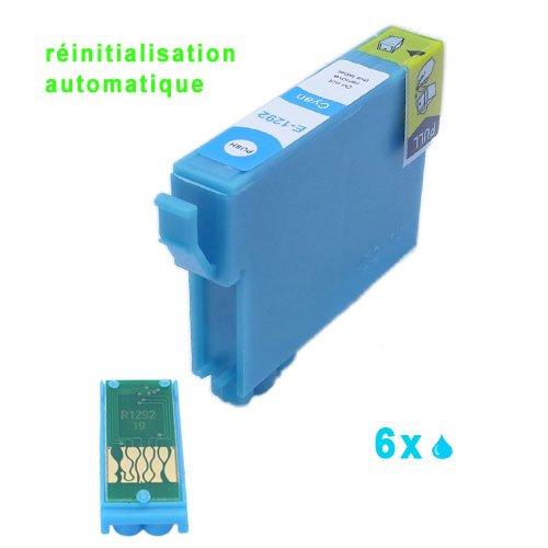 6xCyan Druckerpatronen mit auto-reset chipset komp. für Epson Stylus Office B42WD BX305F BX305FW BX305FW Plus, BX320FW BX525WD BX535WD BX625FWD BX630FW BX635FWD BX925FWD BX935FWD Stylus SX235W SX420W SX425W SX435W SX445W SX525WD SX535WD SX620FW WorkForce WF-7015 WF-7515 WF-7525