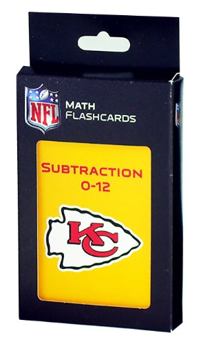NFL Kansas City Chiefs Subtraction Flash Cards
