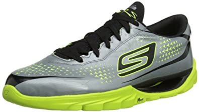 Skechers USA Mens Go Meb Krs Multisport Shoes 53905 Silver/Lime 7 UK, 41 EU