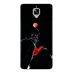 CrazyInk Premium 3D Back Cover for One Plus Three - BASKETBALL JUMP