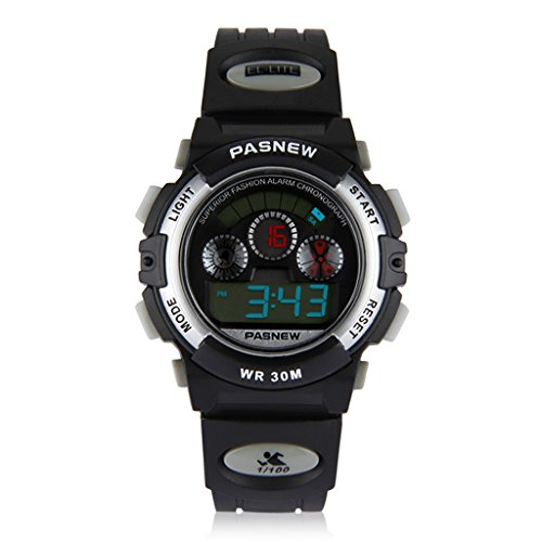 Children's sports watch 3 ATM water resistant digital display & backlight stopwatch-alarm clock features girls boys watches kids watches (005)