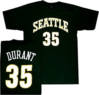 Seattle Super Sonics Kevin Durant Throwback Adidas T Shirt (Small)