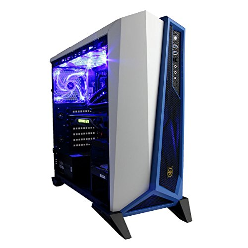 CUK Trion VR Ready Gaming PC (Liquid Cooled Intel i7-6700K, 16GB RAM, 250GB SSD + 2TB SSHD, NVIDIA GTX 1080 8GB, Windows 10) Best New Virtual Reality Prebuilt Top Gamer Desktop Computer (Blue/White) (Desktop Computer Water Cooler compare prices)