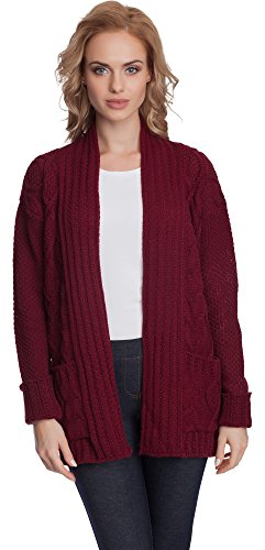 Merry Style Donna Cardigan Ariana (Bordeaux, One size)