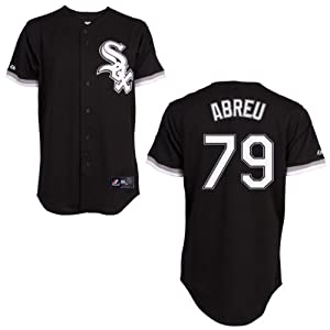 Jose Abreu Chicago White Sox Alternate Black Replica Jersey by Majestic by Majestic