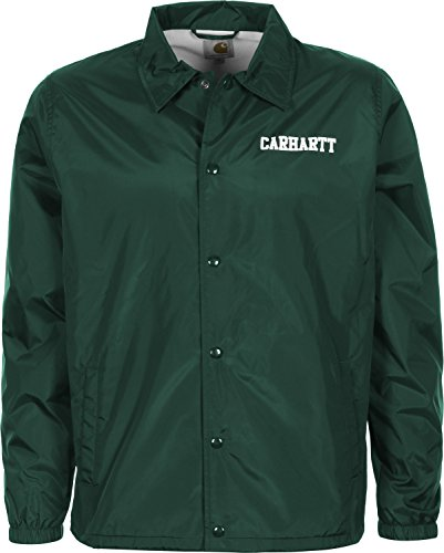 CARHARTT WIP - - Uomo - Coach Jacket College Vert Foncé pour homme -