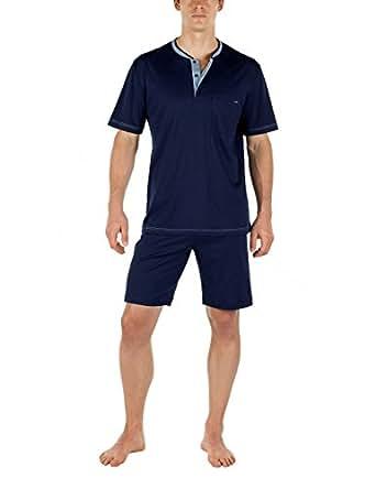 calida herren zweiteiliger schlafanzug pyjama kurz chill. Black Bedroom Furniture Sets. Home Design Ideas