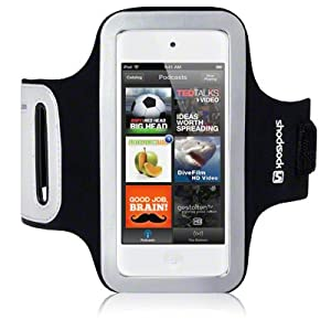 iPod Touch 5 Shocksock Reflective Sports Armband / Case / Cover / Holder - Black