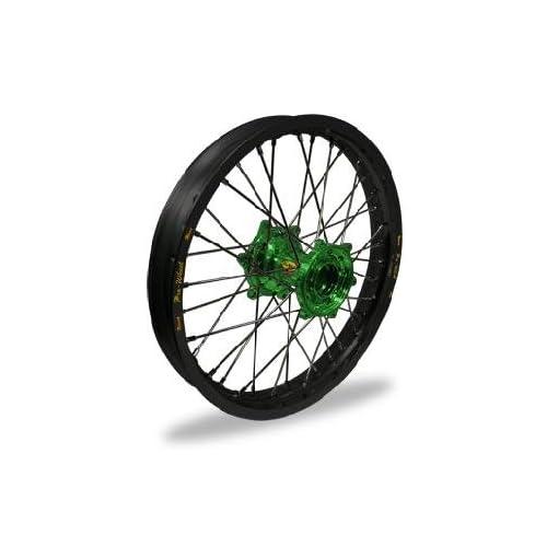 Pro Wheel MX Rear Wheel Set 16x1.60 Black Rim/Green Hub 24 13652 HUB/RIM