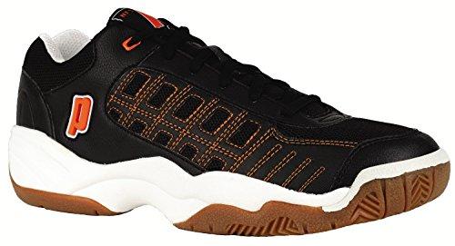 Prince NFS, Unisex-adulti Sport scarpe-Indoor, Rally Black/Orange, 14 UK