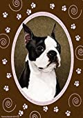 Boston Terrier Paw Prints Flag 12'' x 18