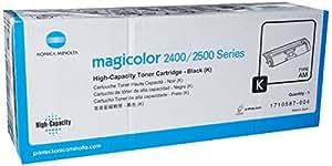 Konica Minolta High Capacity Black Toner Cartridge (1710587-004, 2400 Series Printers)