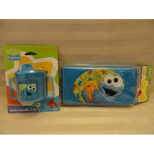 Amazon.com: Cookie Monster Sippy Cup & Wipes Travel Case