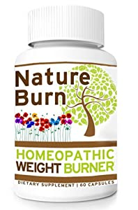 Nature Burn Natural Homeopathic Fat Burn Weight Loss Diet Pills 1 Bottle 1 Month Supply by Nature Burn