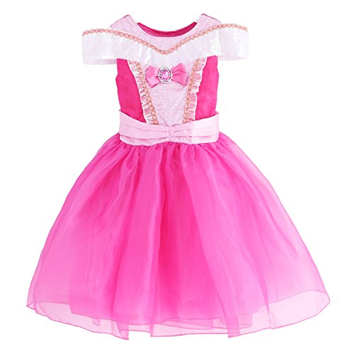 [JiaDuo New Baby Girls' Princess Aurora Costume Party Cosplay Dress 4] (Toddler And Girls Aurora Princess Costumes)
