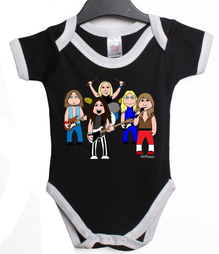 VIPWees High on maiden baby grow vest retro clothes