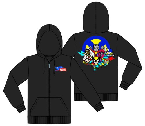 Tokidoki X Marvel X-Men Go Zip-Up Hoodie Sweatshirt   M