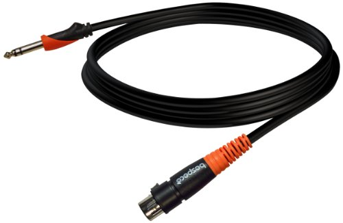 Bespeco Silos Series 20-Feet Microphone Cable With Female Xlr Connector To 1/4-Inch Balanced Jack