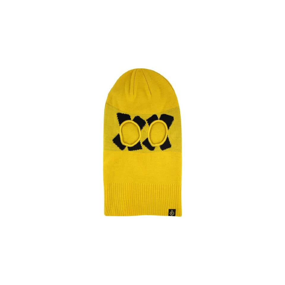 cba09ddbec9 Krooked Cross Eyed Ski Mask Yellow on PopScreen