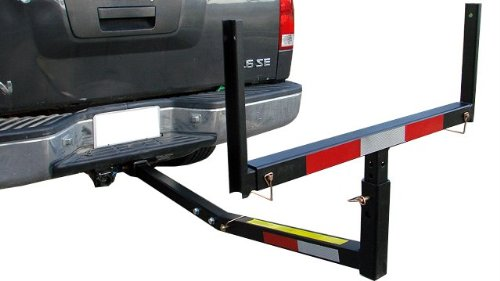 TMS T-NS-HITCH-BED-EXTENDER Heavy Duty Pickup Truck Bed Hitch Mounted Extender Rack Ladder Canoe Boat