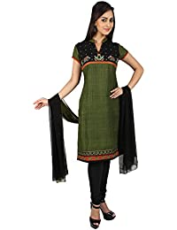U Fashion Women's Matka Silk Straight Salwar Suit