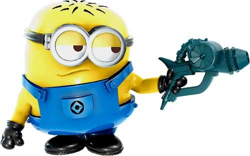 Despicable Me 2 Battle Pods LOOSE 1 Inch Micro Figure #36 Blaster Jerry [Battle Pods]