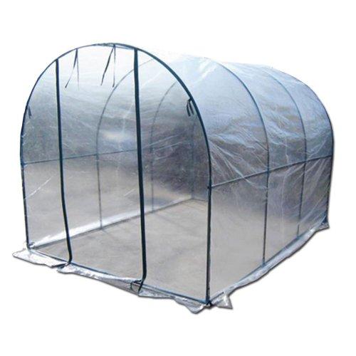 Serra tunnel acciaio telo PE 200x300xh180 per giardino orto piante fiori 647-46