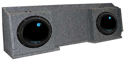 Planet Audio AC12D 12-Inch 3600W Subs with Gmc Chevy Silverado Extended Cab `99-06 Box (Pair)