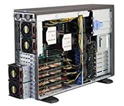 Supermicro SYS-7048GR-TR SuperWorkstation Tower Desktop, 0 MB RAM, No HDD, ASPEED AST2400, Black