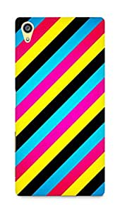 AMEZ designer printed 3d premium high quality back case cover for Sony Xperia Z5 Plus (abstract stripes)
