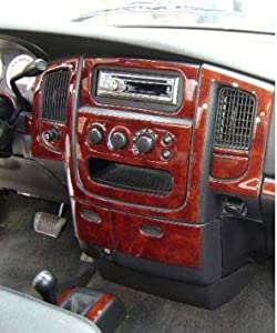 dodge ram 1500 2500 3500 interior wood dash trim kit set 2002 2003 2004 2005 automotive. Black Bedroom Furniture Sets. Home Design Ideas
