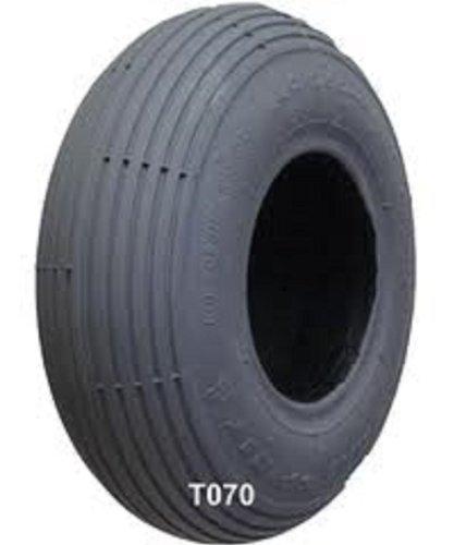 "1- Scooter Tire; Foam Filled, 10X3"" (260X85) (3.00-4), Lt Grey, Ribbed Tread C179 114107"