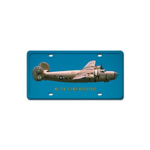 B-24 Liberator Aviation License Plate - Victory Vintage Signs