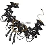 Alcoa Prime Retro Gothic Black Beads Lace Chain Fringed Lady Fancy Prom Party Accessory